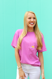 Love Into The World (Radiant Orchid Heather) - Short Sleeve / Crew