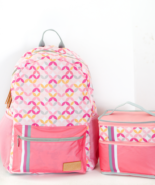 Backpack - Patterned (Coral)