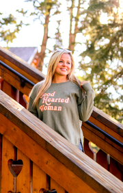TSL - Good Hearted Woman (Olive) - Long Sleeve / Sweatshirt Crew