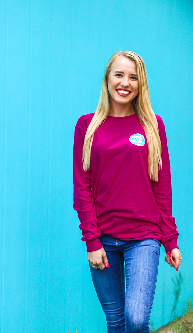 K&C - Kind Heart Fierce Mind (Berry) - Long Sleeve / Crew