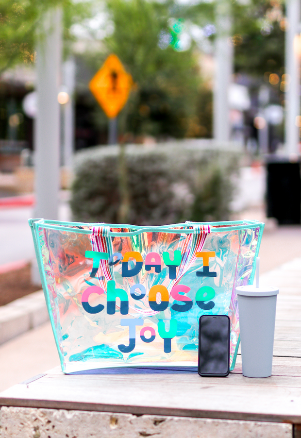 Iridescent Tote (Mint) - Today I Choose Joy