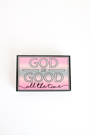 Happy Quote Box - God Is Good (Grey)