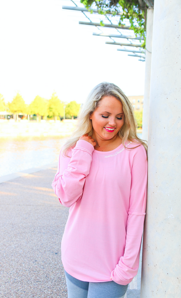 JLB Tieback - Fearfully & Wonderfully Made (Millennial Pink) - Long Sleeve
