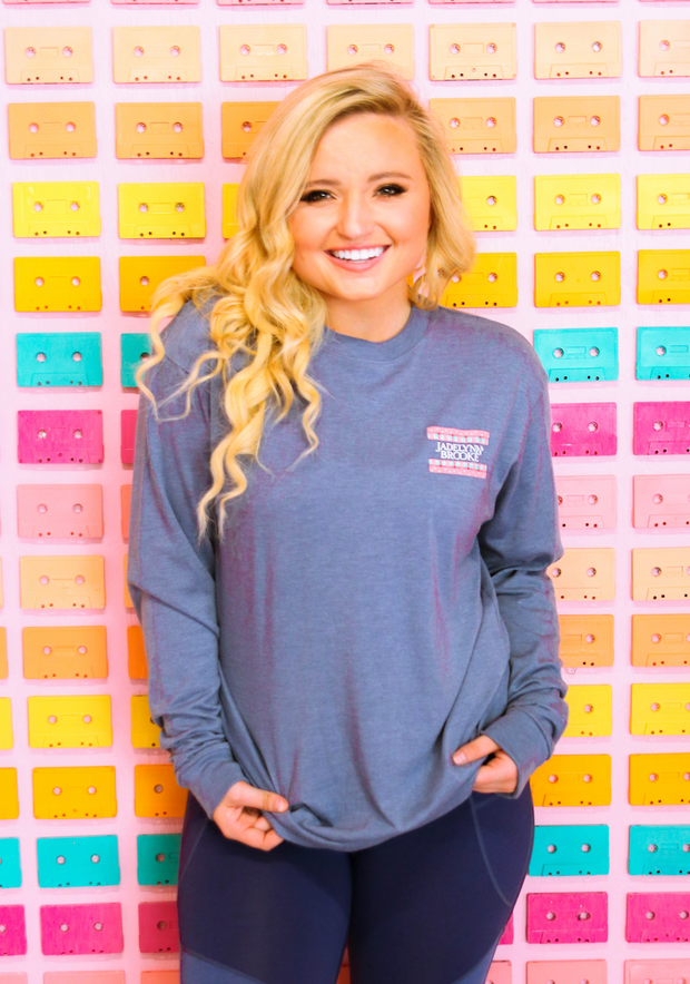 Born To Be Wild (Heather Blue Jean) - Long Sleeve / Crew