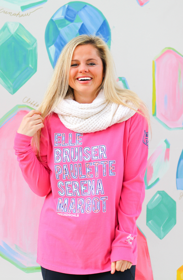 Bend & Snap #Squad Goals (Pink) - Long Sleeve / Crew