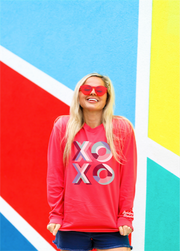 XOXO (Watermelon) - Long Sleeve Crew