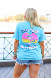 Dare To Be Different (Popsicle Blue Heather) - Short Sleeve / Pocket