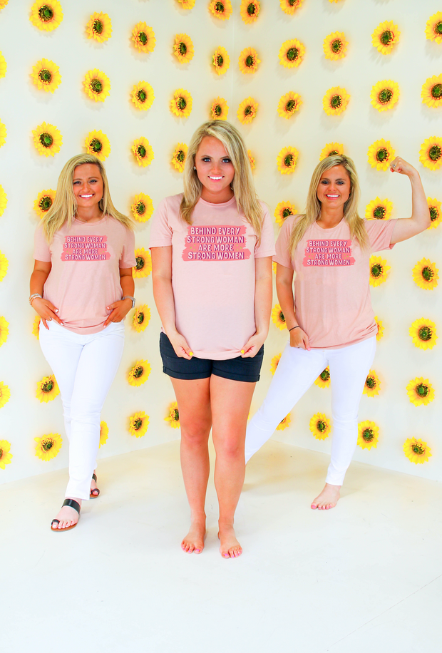TSL - Strong Women (Peach Heather) - Short Sleeve / Crew