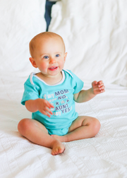 Tiny Tinies - My Aunt Says Yes (Seafoam Heather) - Onesie