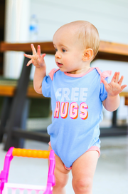 Tiny Tinies - Free Hugs (Periwinkle Heather) - Onesie