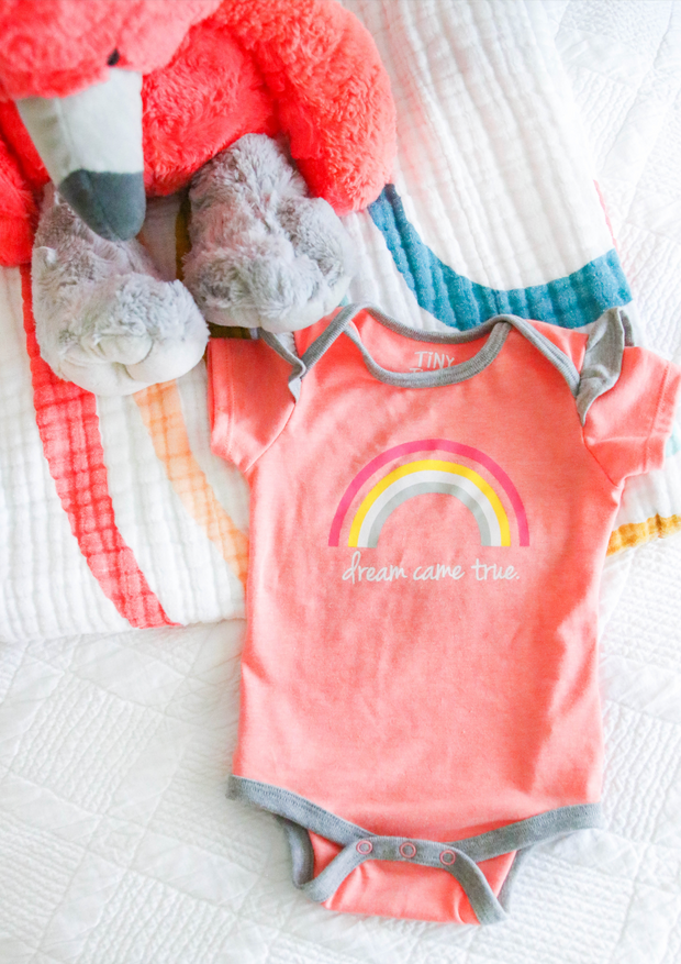 Tiny Tinies - Dream Came True (Coral Heather) - Onesie