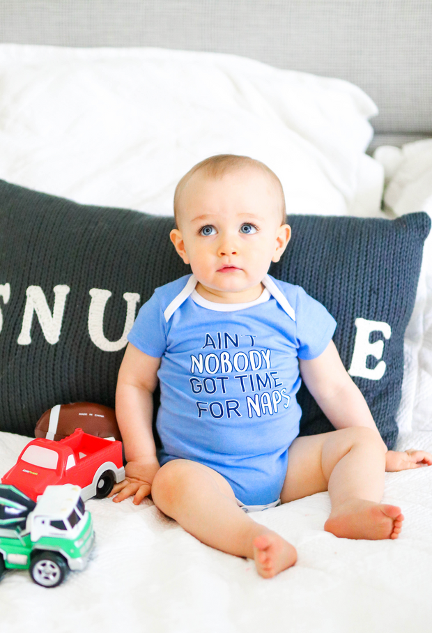 Tiny Tinies - Ain't Nobody Got Time (Periwinkle Heather) - Onesie
