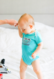 Tiny Tinies - Strollin' (Seafoam Heather) - Onesie