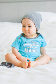 Tiny Tinies - Ladies Man (Lagoon Blue Heather) - Onesie
