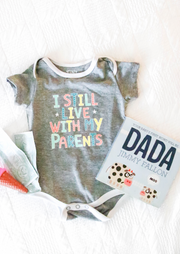 Tiny Tinies - Live With My Parents (Dark Grey Heather) - Onesie