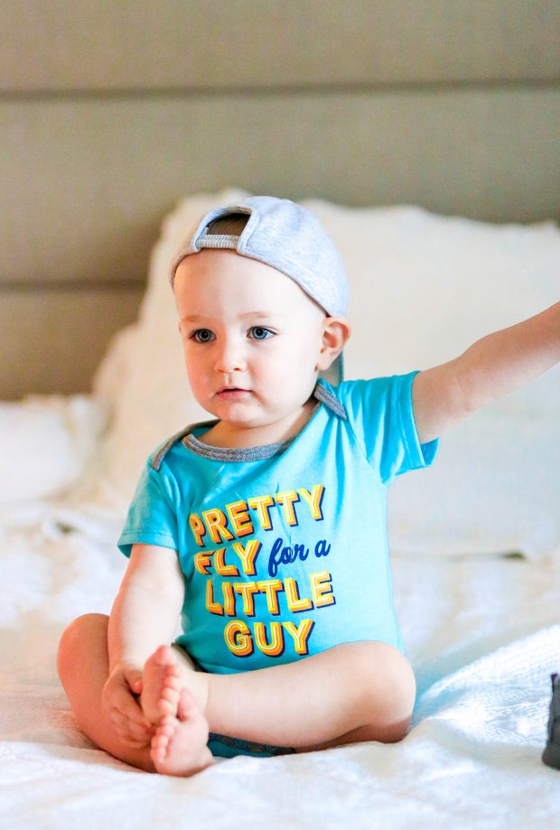 Tiny Tinies - Pretty Fly (Lagoon Blue Heather) - Onesie