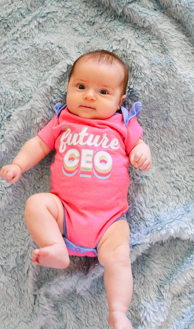 Tiny Tinies - Future CEO (Pink Heather) - Onesie