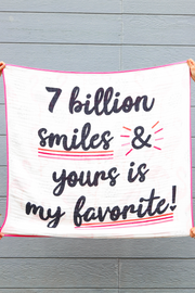 Baby Blanket - 7 Billion Smiles (Pink/Black)