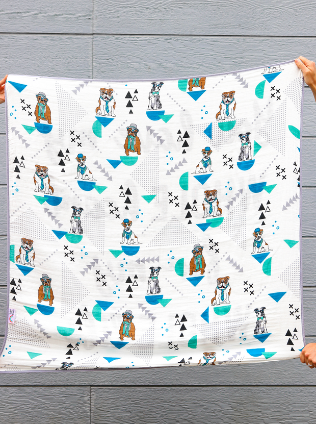 Blanket - My WHOLE Heart (Turquoise/Black)