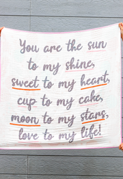 Baby Blanket - Sun To My Shine (Coral/Mint)