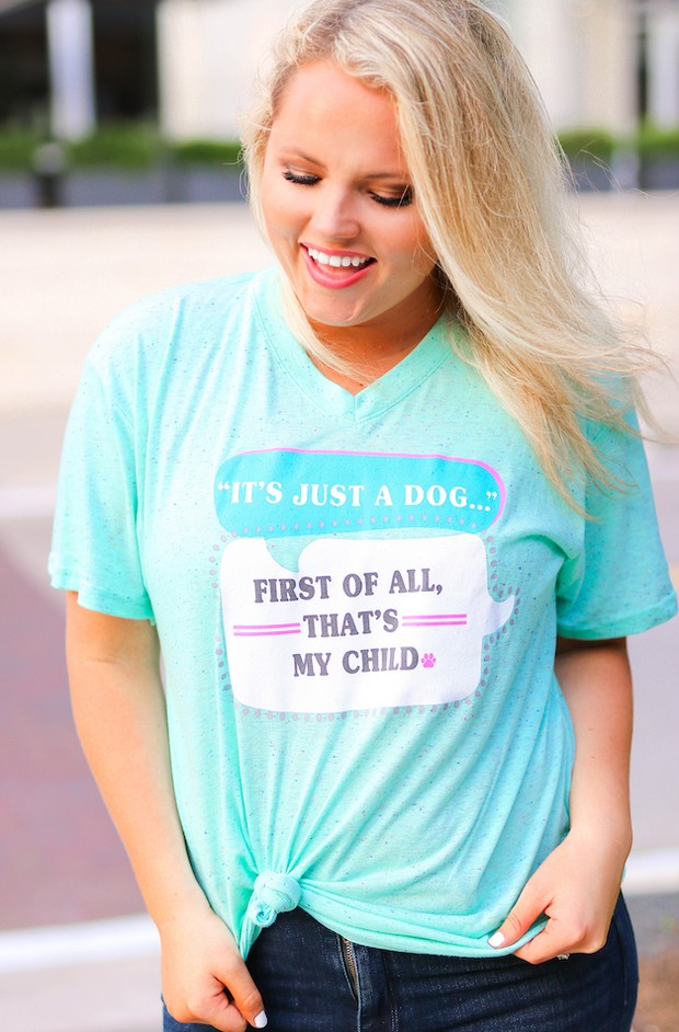 It's Just a Dog (Mint Funfetti) - Short Sleeve / V-Neck