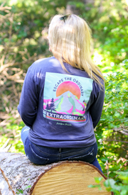 Be Extraordinary (Navy Heather)  - Long Sleeve / V-Neck