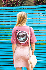 Coffee Understands (Mauve Heather) - Short Sleeve / V-Neck
