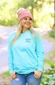 Travel More (Lagoon Blue)  - Long Sleeve / Crew