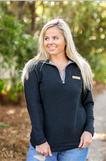 JLB Boyfriend Pullover (Black/Black) - Long Sleeve 1/4 Zip