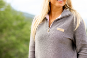 JLB Boyfriend Pullover (Grey/Charcoal) - Long Sleeve 1/4 Zip