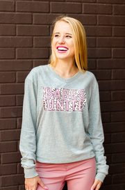 Babes Unite (Light Grey Heather)  - Long Sleeve / V-Neck