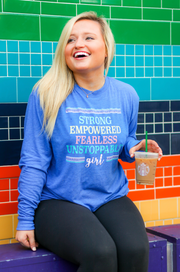 Unstoppable Girl (Flo Blue Funfetti)  - Long Sleeve / Crew