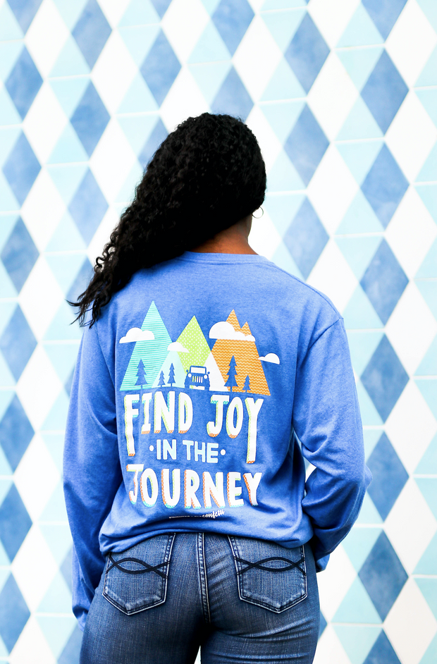K&C - Find The Joy In The Journey (Royal Heather) - Long Sleeve / Crew