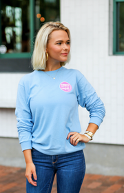 K&C - Let Your Faith Be Bigger Than Your Fear (Sky Blue) - Long Sleeve / Crew