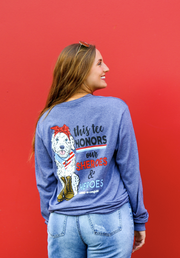 K&C - This Tee Honors our Sheroes and Heroes (Denim Heather) - Long Sleeve / Crew