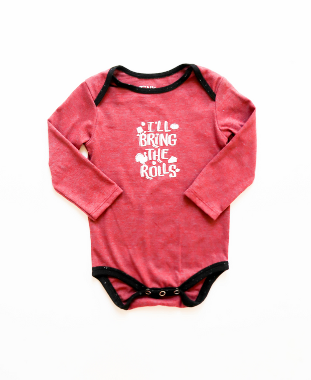 I'll Bring The Rolls (Wine Heather) - Onesie / Long Sleeve