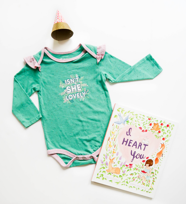 Isn't She Lovely (Chalky Mint Funfetti) - Onesie / Long Sleeve