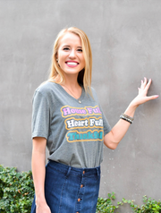 TSL - House Full, Heart Full, Thankful (Grey) - Short Sleeve - V-Neck
