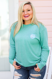 Party Animal (Chalky Mint Funfetti) - Long Sleeve / Crew