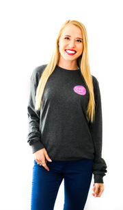 K&C - Joy To The World (Charcoal Heather) - Long Sleeve / Crew