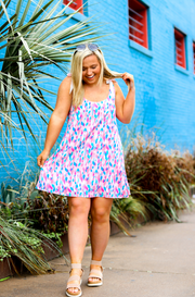Cami Tie Dress - Sunny In Seaside (Pink Multi)