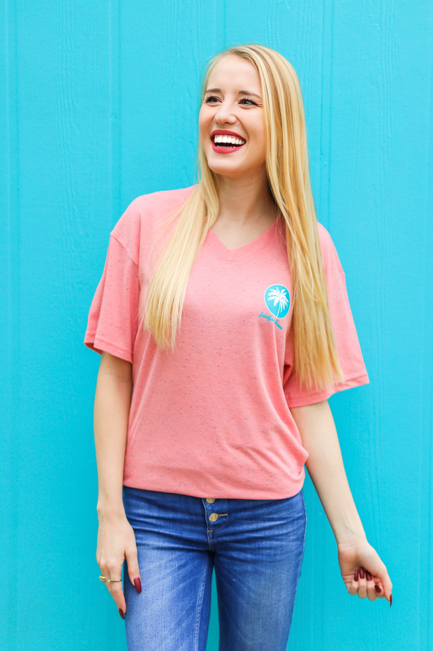 Sea You Later (Coral Funfetti) - Short Sleeve / V-Neck