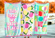 3HH Towel - So My Happy Place (Coral Palm)