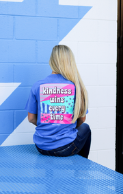 K&C - Kindness Wins Every Time (Royal Blue Heather) - Short Sleeve/Crew