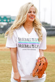 Baseball is Love (White) - Short Sleeve