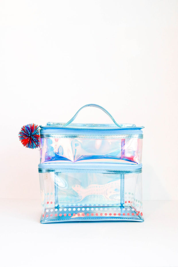 Lunch Box - Two Compartment (Blue Iridescent)