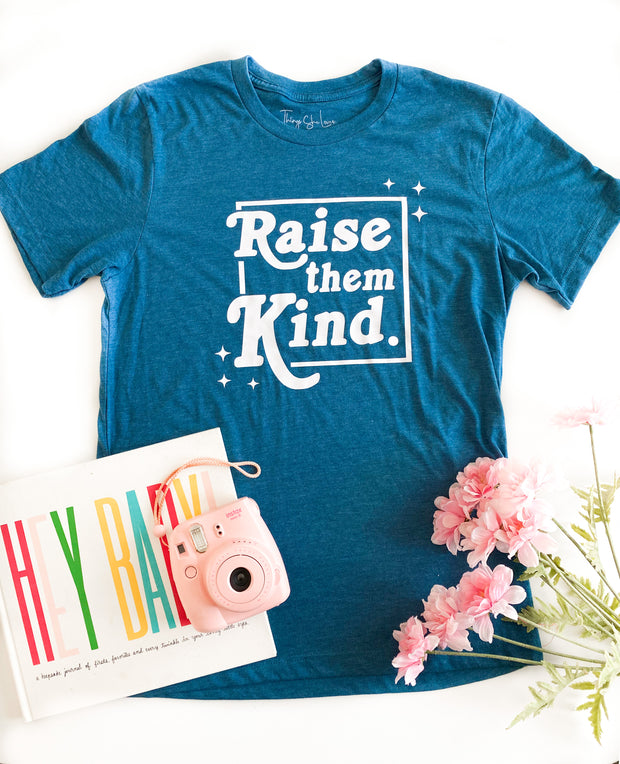 TSL - Raise Them Kind (Teal Heather) - Short Sleeve / Crew