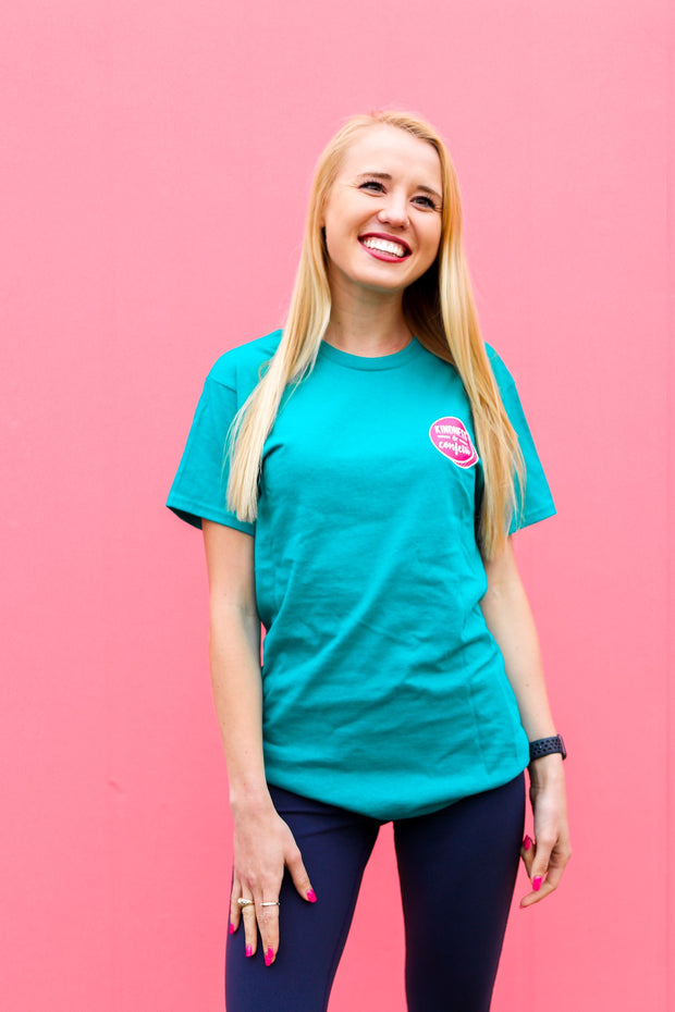 K&C - Radiate Positivity (Jade) - Short Sleeve/Crew