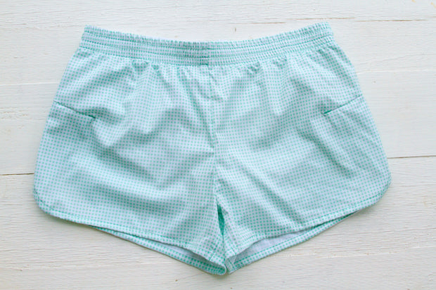 JLB Mint Gingham - Shorts