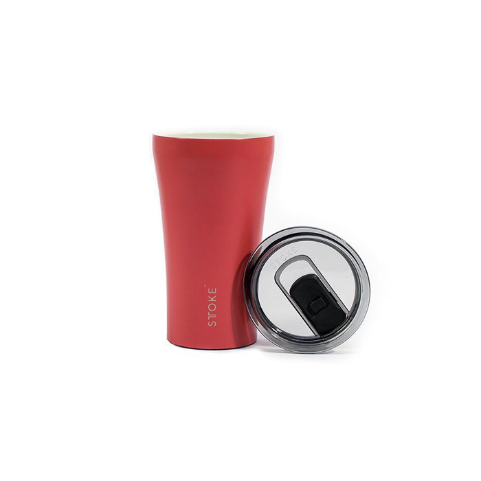 Sttoke Reusable Coffee Cup 12oz (Coral Sunset)